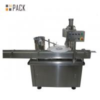 Stainless Steel Glass Bottle Capping Machine PLC Control Electric Bottle Capper Manufactures