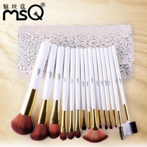China 15 Pieces / Set White Nylon Hair Cosmetic Brush Set Girls Lovely on sale