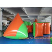 Durable 0.9mm PVC Tarpaulin Inflatable Sport Games , Blow Up Bunkers Manufactures