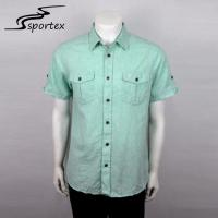 Flannel Woven Casual Outdoor Clothing Light Weight Mens Summer Linen Shirts Manufactures