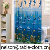China Transparent printed shower curtain---SC001 on sale