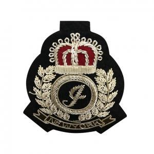 Hand Made Embroidered Bullion Blazer Badges , Military Bullion Badges Manufactures