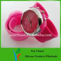 Eco-friendly Slap Wristwatch, Silicone Wrist Watches With Colorful Dial For Christmas Gift Manufactures