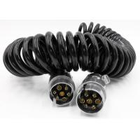 Buy cheap PU 7 Pin Spiral Power Cable , Elevator / Vehicle CCTV Camera Cable from wholesalers