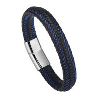 Braided Leather Bracelets For Men,Leather Bracelets Fashion Magnetic Clasp 7.5-8.5 Inch Manufactures
