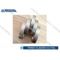 China EN 1652 Double Side Tin Cladding Copper Foil Roll , tinned copper foil on sale
