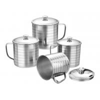12oz 14oz 16oz Stainless Steel Mug Silver Color Outdoor Camping Coffee Cup Manufactures