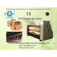 Carton Box Making Machine , Cardboard Rotary Die Cutter Machine With Lead Edge Feeding Manufactures