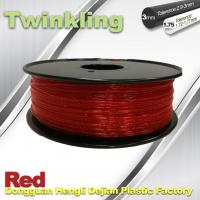Flexible 3D Printer Filament Twinkling 3mm 1.75mm Red Filament 1.3Kg / Roll Manufactures