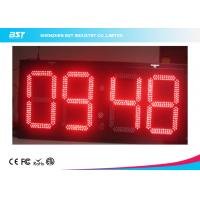 China Electronic Outdoor Large Led Digital Wall Clock Timer , Waterproof IP67 on sale