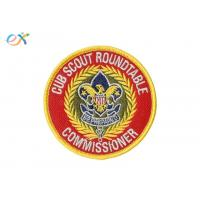 Ryan Thread Boy Scout Patches / Polyester Material Merrow Border Patch For Clothing Manufactures
