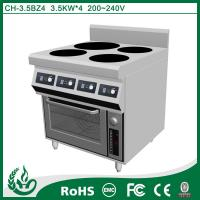 China 4 Plate Freestanding Oven With Induction Hob , Induction Oven Range CE approved on sale