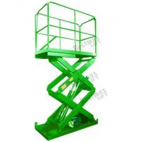 Fixed Cargo Lift Table Hydraulic Scissor Lift Platform 2000Kg Loading Capacity Manufactures