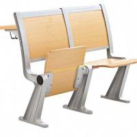 Foldable College Classroom Furniture , Fireproof Material Standard Plywood Study Chair Manufactures