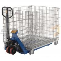 China Collapsible Logistic Wire Container Storage Cages , Wire Mesh Storage Cages on sale