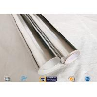 Quality 0.43mm Light Reflective Silver Coated Fabric Aluminium Foil E Glass Fabric For Pipes for sale