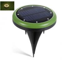 waterproof outdoor 8led solar ground spot lights in green (warm white Led color) for Yard Driveway Lawn Pathway White Manufactures
