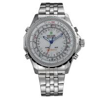 WEIDE WH904 Men LED Digital Alarm Day Date Stainless Steel Sport Quartz Analog Watch Manufactures