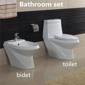 China Hot sale Elegent Sanitary Ware Ceramic Bathroom Sets Washdown One piece Toilet with Bidet on sale