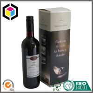 Matte Custom Color Logo Printed Wine Carton Box; Single Bottle Wine Color Box Manufactures