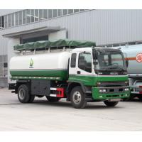 China Q235 Carbon Steel Petrol Tanker Truck , Diesel Delivery Truck For ISUZU Oil Refiller Tank on sale