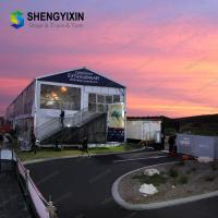 China Wide selection Outdoor Big Hole 100 Seated outdoor span 10m clear roof wedding tent for sale on sale