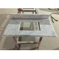 Bianco Carrara Prefab Bathroom Countertops With Sink , Marble Bathroom Top Manufactures