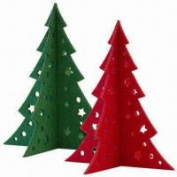 Small Christmas Tree in 3mm Felt, Laser-cut of Size 15 x 13cm Manufactures