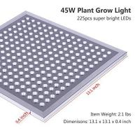 IP65 Waterproof Full Spectrum LED Grow Lights Silver Surface Finish , 8MM Thickness Manufactures