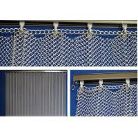 New Style Metal Coil Drapery / Wire Mesh Shower Metal Curtain Manufactures