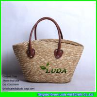 LUDA Natural Straw Handbags Pliated Women Wheat Straw Bag Manufactures