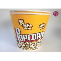 180oz Volume 4850ml Disposable Flexo Print Paper Popcorn Bucket With Paper Lid Manufactures