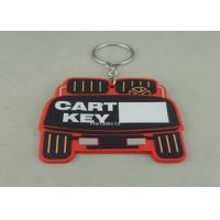 Stamping / Die Casting Rubber Key Chain , Design Your Own Custom Shaped Keychains Manufactures