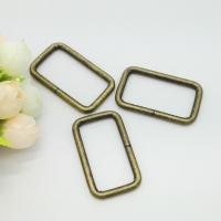 Zinc Alloy Adjustable Sliding Square Ring Buckle , Rectangle Ring Hardware 30*10mm Manufactures