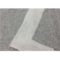 China SGS Approval 100% Cotton Knit Fabric / Plain Dyed Grey Polyester Fabric on sale