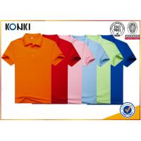 China Men Colorful Custom Polo Shirt With Heat Transfer / Silk Screen Print Logo on sale