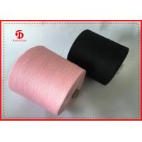 China Semi - Virgin Dope Dyed Recycled Ring Polyester Spun Yarn For Clothing / Sewing wholesale