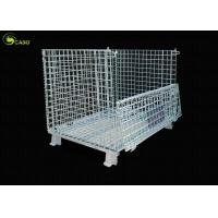 Forklift Wire Mesh Warehouse Collapsible Corner Shelves Storage Turnover Box Manufactures
