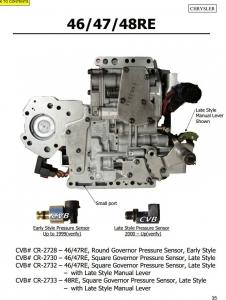 Auto Transmission 46RE 47RE 48RE sdenoid valve body good quality used original parts Manufactures