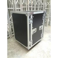 Quality 9mm Thickness Plywood Black 12U Amplifier Anti shock Rack Flight Case , 9/12 mm thickness for sale