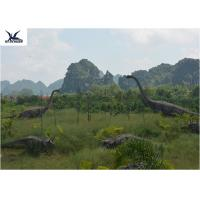 Realistic Ultra Giant Dinosaur Model For Jurassic Forest Decoration 110/220V Manufactures
