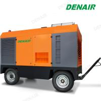 China Diesel Drive Portable Mobile Rotary Double Screw Air Compressor Used for Drilling on sale