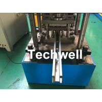 Custom Made Sliding Shutter Door Guide Rail Roll Forming Line With Chain Drive Manufactures