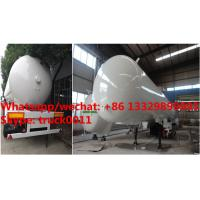 Factory sale best price 56cbm propane gas transported trailer, HOT SALE! high quality and cheaper price lpg tank trailer Manufactures