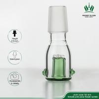 Green 2.5 Inches Heady Oil Rig Glass Bowls , Glass Herb Bubbler Smoking Accessories Bowl Manufactures