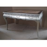 Solid Wooden Frame Marble Top Customizable Dining Table Classic Style Manufactures