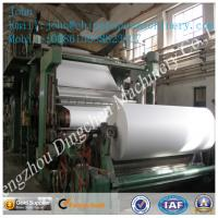 1575mm 5T/D cultural paper making machine with waste paper as material Manufactures