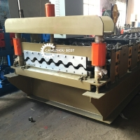 China Big Round Type Corrugated Roofing Sheet Roll Forming Machine Manufacturer on sale
