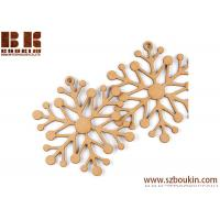 Unfinished Wood Laser Cut Snowflake Ornaments Christmas tree ornaments Holidays Gift Ornament Manufactures