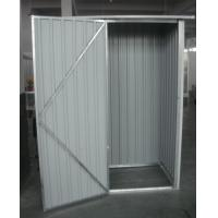 Single Swing Door Yard Storage Sheds / Prefab Iron DIY Metal Shed Prototype Manufactures